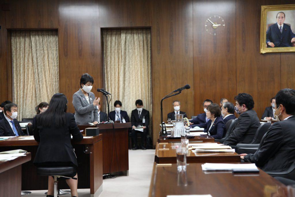 上川陽子法務大臣へ法務委員会で「国会で決まった法解釈を政府が勝手に変えていいのか?」質問しました1