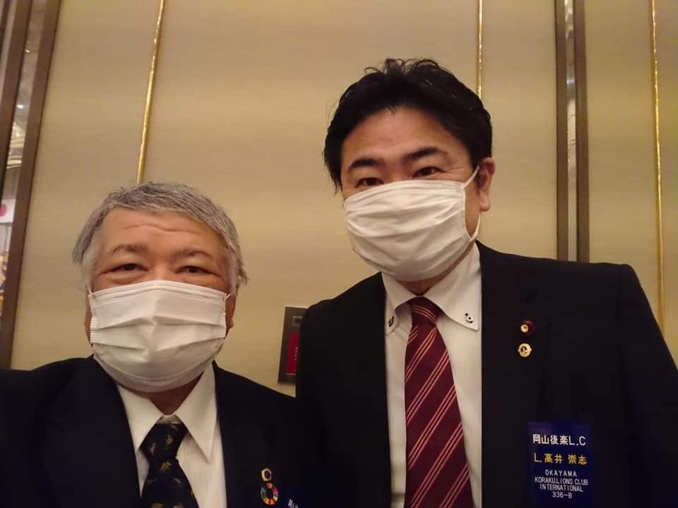 岡山後楽ライオンズクラブの認証60周年記念式典に出席しました