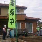 4番目の視察地は、富岡町の除染作業現場です