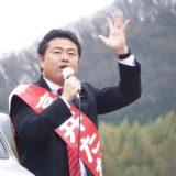 本日の街宣は、牧石・御野・津島・横井・野谷学区を中心に60ヵ所で街頭演説