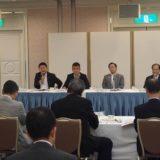 岡山市に関係する国会議員と、岡山市長及び市議会・市役所幹部との「岡山市政懇談会」に出席しました