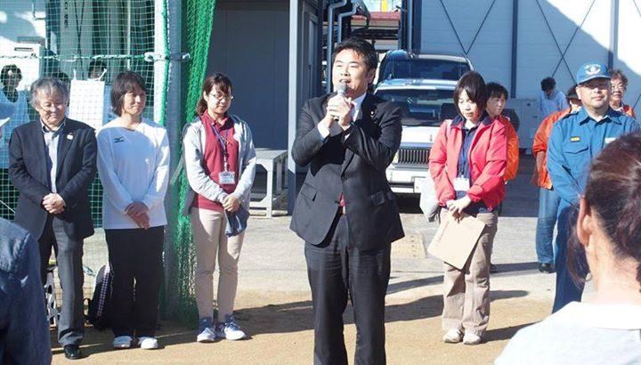 地元鹿田学区の3世代グランドゴルフ大会の開会式に出席しご挨拶させて頂きました