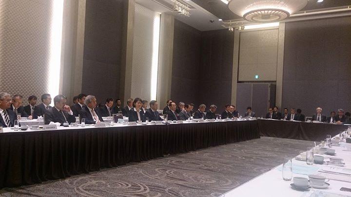 朝7時半から国会近くのホテルで開催された中国治水期成同盟会による「直轄河川の治水に関する意見交換会」に出席しました