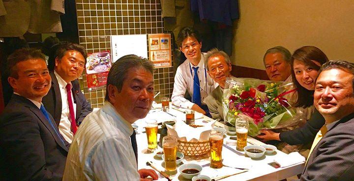 中国地方選出の国会議員6名で、桐花大綬章の叙勲を受けられた江田五月さんをお祝いいたしました