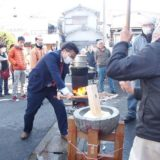 年末恒例の豊浜町「餅つき大会」にお邪魔し、ひと臼つかせていただきました