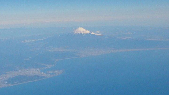 富士山がきれいでした