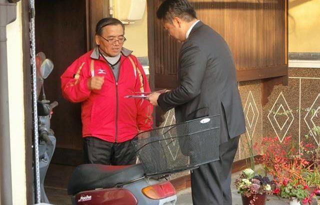 今月は福田学区で開催の「高井たかしと語る会」 福田学区を1軒1軒訪ねて歩きました