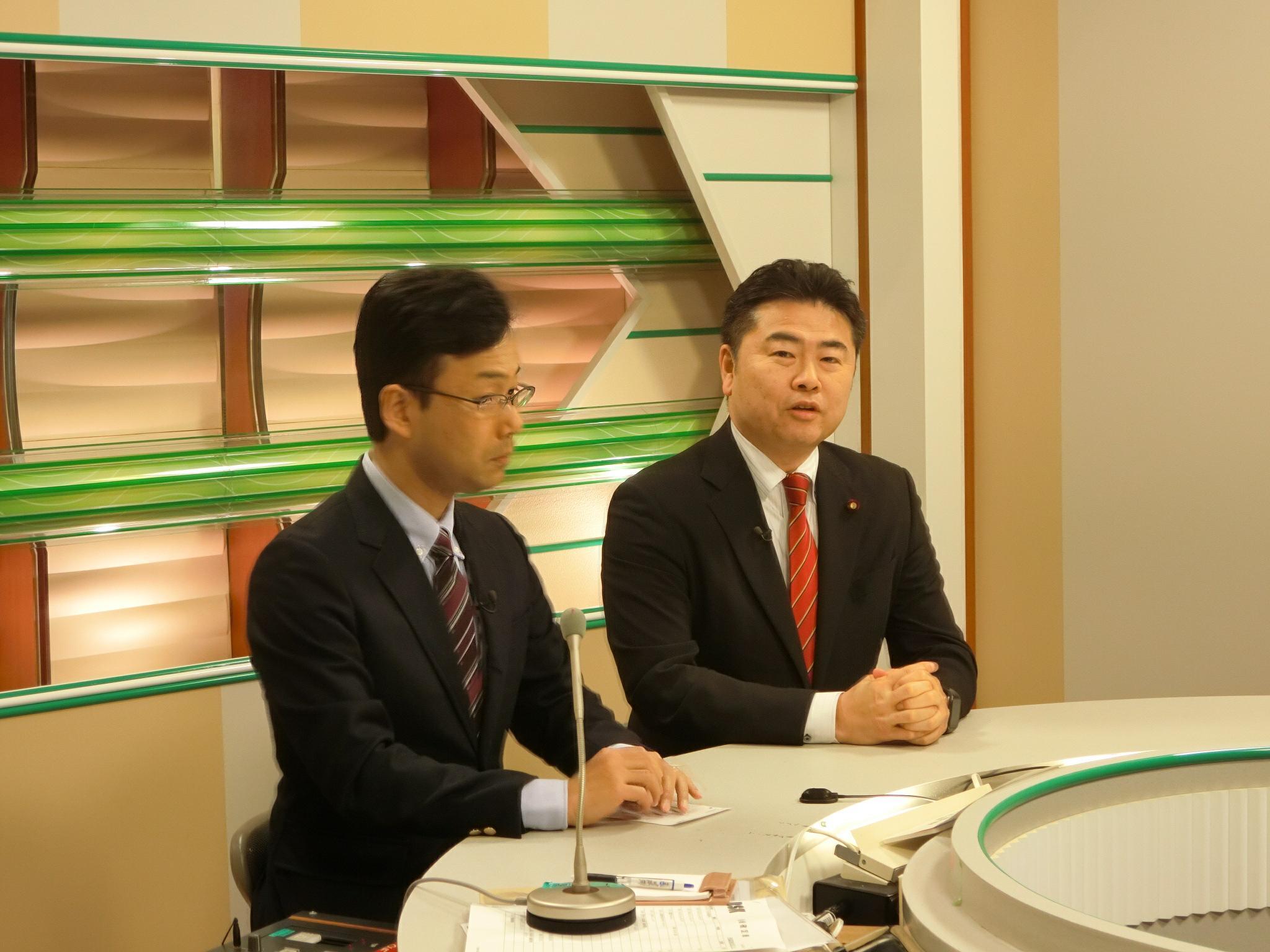 山陽放送(RSK)イブニングニュース「国会報告」に出演