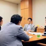岡山から盟友の賀川弁護士が、沖縄の小口弁護士とともに、憲法53条訴訟を全国各地で起こすべく上京されました。