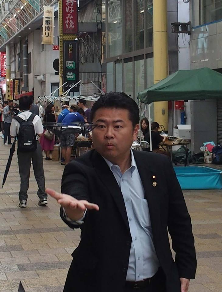岡山駅前商店街でドローンを飛ばそうという企画に参加。