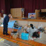 倉敷市真備町の避難所となっている岡田小学校にお伺いしました。