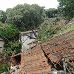 岡山市北区津島の土砂崩れの現場を見てきました。