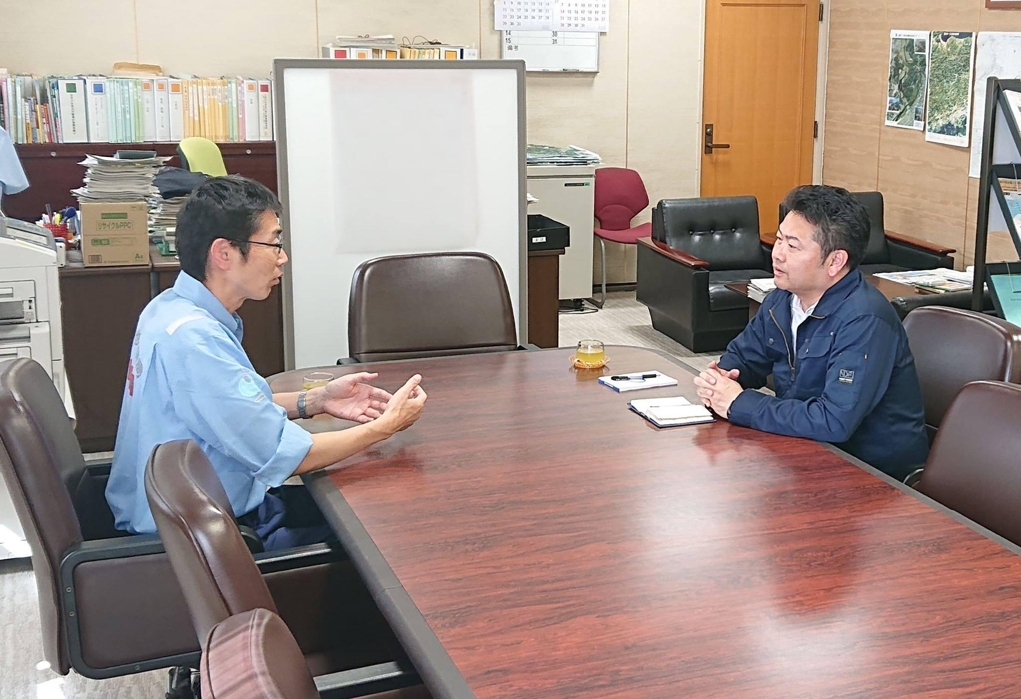 岡山河川事務所長(国土交通省)にお会いしてきました。