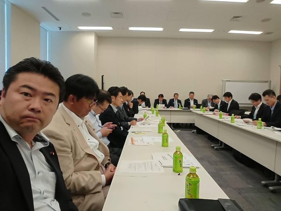 超党派「高レベル放射性廃棄物の中間処理に関する議員連盟」の総会にて