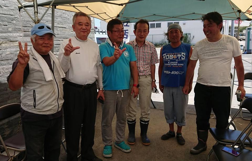 2009年当選組の同期、福島のぶゆき前衆議院議員がボランティアに駆けつけてくれました!