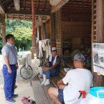 倉敷市真備町呉妹地区に、避難所に指定されていない熊野神社に避難している方がいると聞いて、訪ねてみました。