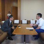 台風20号の被害状況を確認するため、岡山市役所を訪ねました。