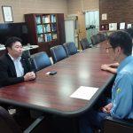 岡山河川事務所(国土交通省)を訪問し、所長以下幹部の皆さまから、今回の小田川決壊の原因と今後の対策についてお話を伺いました。