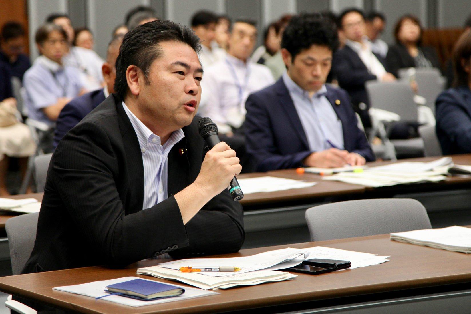 「北海道胆振東部地震」野党合同対策会議に出席しました。