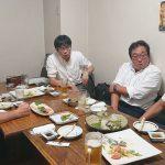 「避難所・避難生活学会」理事長の榛沢和彦新潟大学教授とサイバーダイン社の宇賀伸二CFO(大学の同級生)が岡山を訪ねてくれました。