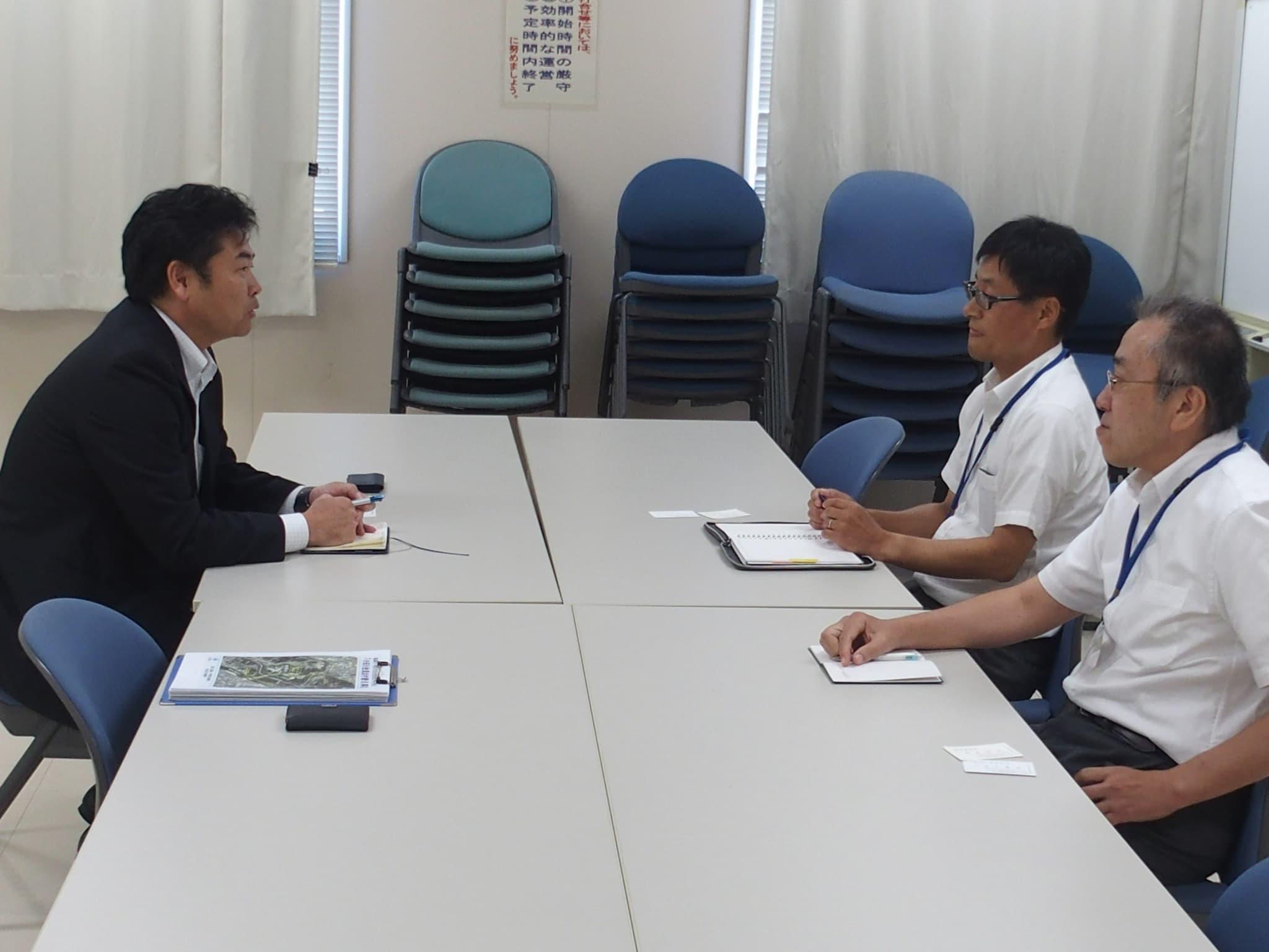 豪雨により決壊した小田川の原因究明と今後の河川改修についてお話を伺いました。