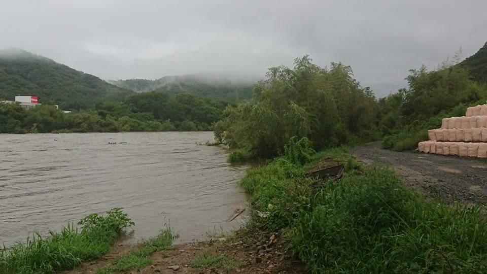 7月豪雨の際に旭川で唯一決壊した御津国ヶ原に来ています。