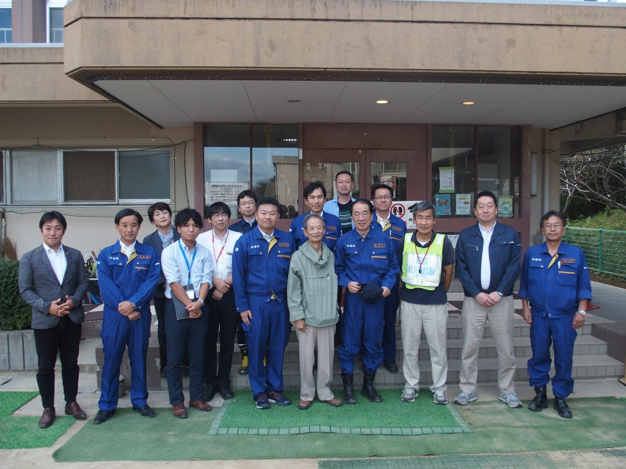 県内最大の避難所となった岡田小学校を訪ねました。