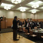 立憲民主党岡山県連合代表代行の高原俊彦県議会議員の県政報告会に出席し、激励と連帯のご挨拶をさせていただきました。