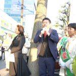みどり岡山共同代表の大塚愛さん(岡山県議候補(岡山市北区・加賀郡選挙区))と鬼木のぞみさん(岡山市議候補(岡山市北区))の応援に駆けつけました。
