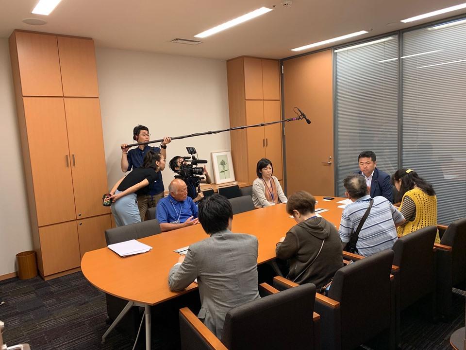 ハンセン病家族訴訟の原告団と弁護団の皆さまが、議員会館の事務所を訪ねてくださいました。