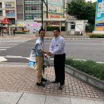 昨日は1日、参議院選挙岡山選挙区の原田ケンスケ予定候補者と一緒に街頭宣伝活動。