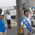 本日のハラケンは地元大元学区の野田交差点からスタートです!