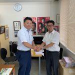 「ぞうきんプロジェクト実行委員会」代表の白井崇裕さんが、取材に来られました。