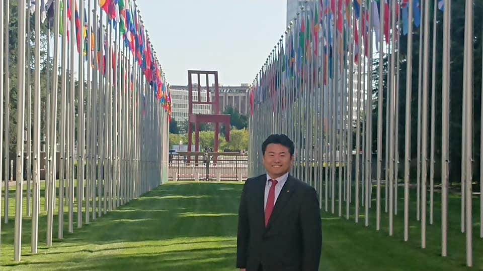 ジュネーブの国連欧州本部に来ています。