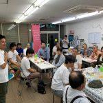 二日間にわたって開催された原田ケンスケ後援会主催の反省会。