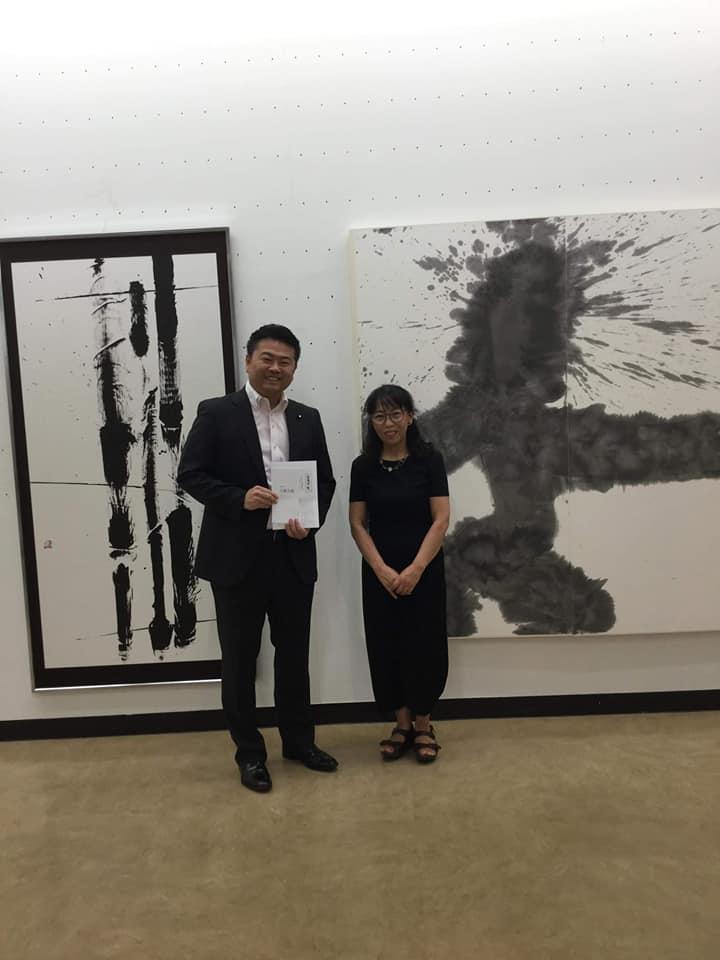 江田五月元参議院議長が会長を務める玉龍会の展覧会を観てきました。