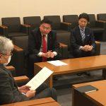 枝野代表、福山幹事長、逢坂政調会長へ提言書を提出いたしました