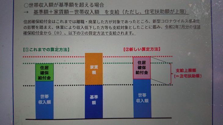 住居確保給付金【続報】(新型コロナ対策その28)