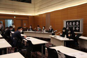 周庭さん、黎智英さんら香港の民主運動家・ジャーナリストの逮捕に対する「対中政策に関する国会議員連盟(JPAC)」の緊急記者会見に同席しました01