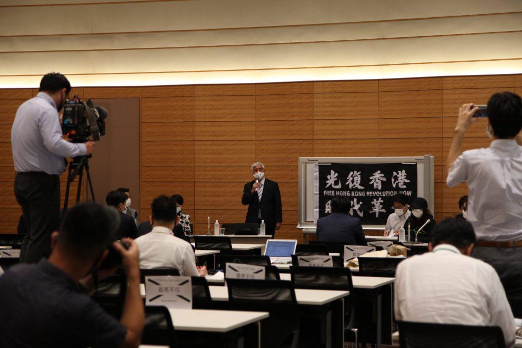 周庭さん、黎智英さんら香港の民主運動家・ジャーナリストの逮捕に対する「対中政策に関する国会議員連盟(JPAC)」の緊急記者会見に同席しました02