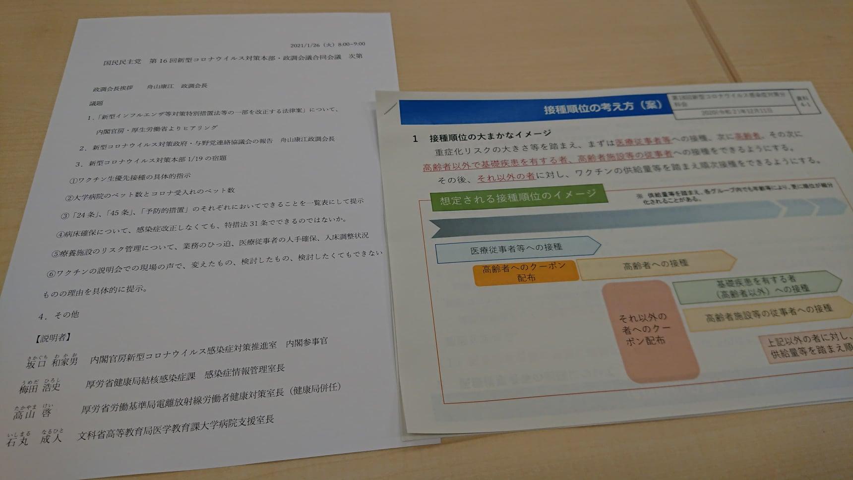 新型コロナウイルスワクチン 接種順位の考え方(案)01