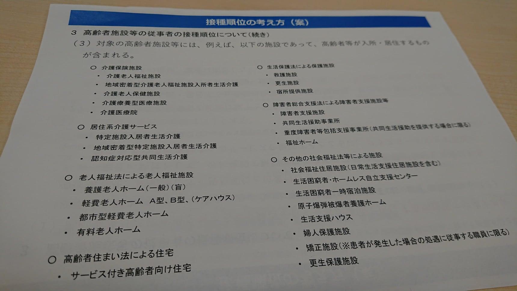 新型コロナウイルスワクチン 接種順位の考え方(案)04